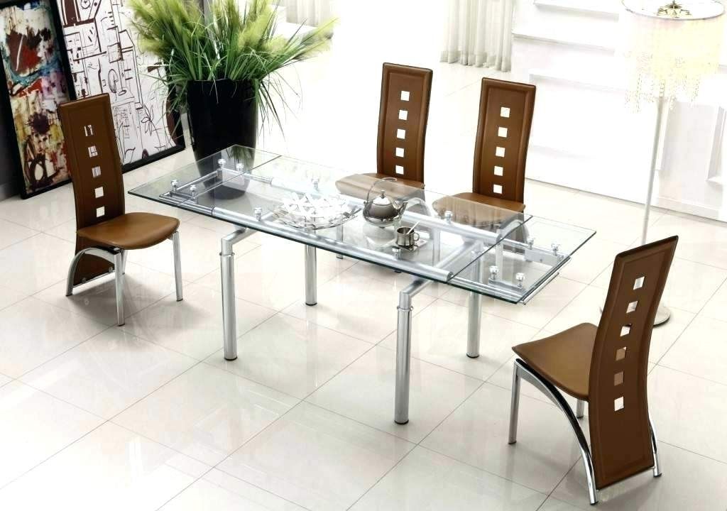 Round Glass Dining Table Set Modern – Modern Computer Desk Intended For Best And Newest Contemporary Dining Sets (View 20 of 20)