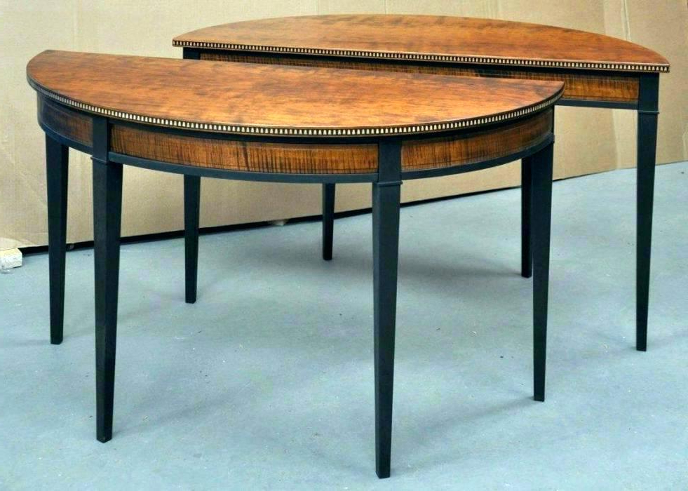 Round Half Moon Dining Tables Pertaining To Well Known Half Moon Dining Table – Jayblog (Gallery 15 of 20)
