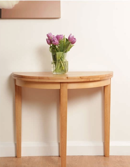 Round Half Moon Dining Tables With Regard To Most Current Buy Hanover Half Moon Dining Table – 90Cm Online – Cfs Uk (View 18 of 20)