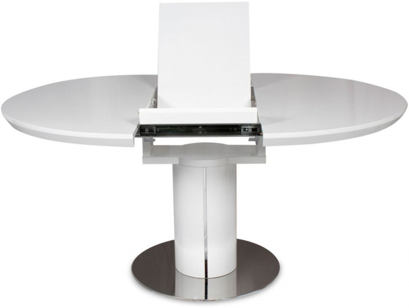 Round High Gloss Dining Tables Regarding Widely Used Buy Romeo White High Gloss Dining Table – 120cm 160cm Round (View 20 of 20)