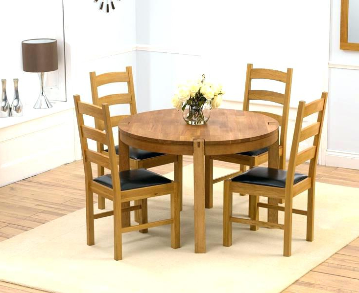 Round Oak Dining Table Set Large Tables Seats – Fondodepantalla Regarding Most Recently Released Round Oak Dining Tables And 4 Chairs (View 12 of 20)