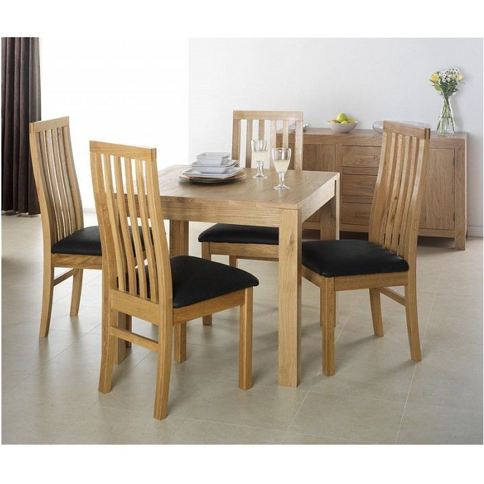 Round Oak Dining Tables And 4 Chairs Within Latest Breathtaking Cuba Oak Square Oak Dining Table With 4 Chairs (View 11 of 20)