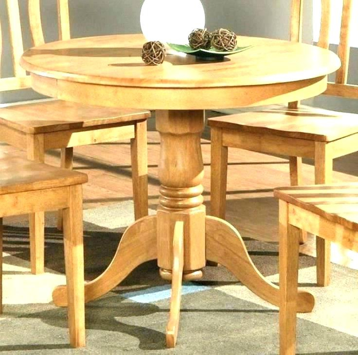Round Oak Dining Tables And Chairs Pertaining To Most Current Round Wood Kitchen Tables Rustic Wood Kitchen Table Rustic Wood (View 18 of 20)