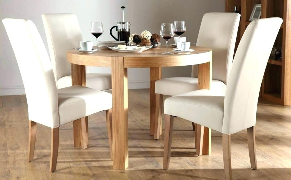 Round Oak Dining Tables And Chairs With Most Recent 4 Foot Square Dining Table 4 Foot Round Table Oak Table And Chairs (View 12 of 20)