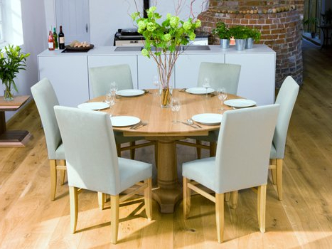 Round Oak Extendable Dining Tables And Chairs Within Most Up To Date Extra Large Dining Tables (View 13 of 20)