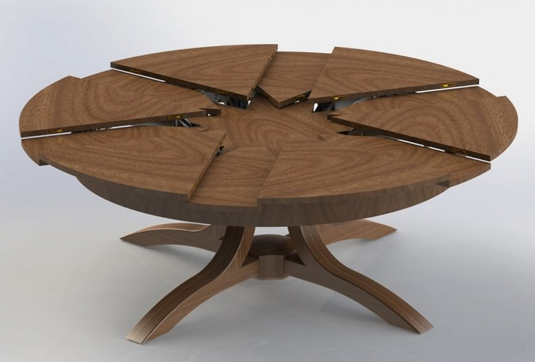 Round Pedestal Dining Table With Extension Leaf Regarding Your Own Pertaining To Well Liked Small Round Extending Dining Tables (View 11 of 20)