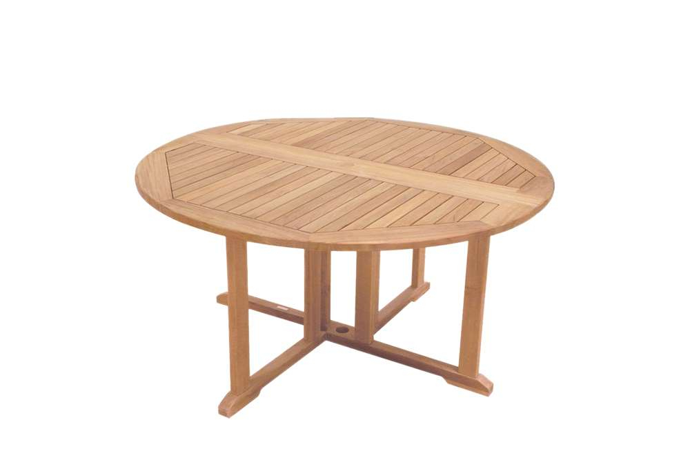 Round Teak Dining Tables In Well Known Geteleg Round Table – 150cm (View 15 of 20)