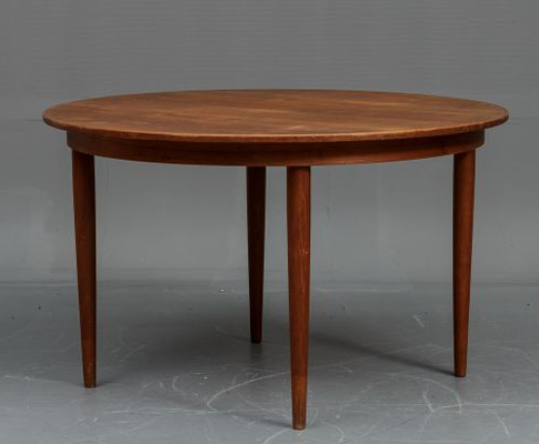 Round Teak Dining Tables With Regard To 2017 Danish Teak Dining Table With 4 Chairs From Vejle Stole Og (View 19 of 20)