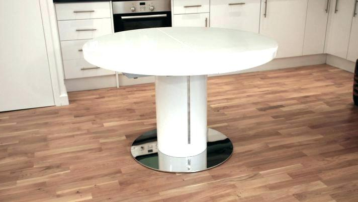 Round White Extendable Dining Tables Within Most Recently Released Round Dining Table White Round Dining Table White Modern Dining (View 19 of 20)