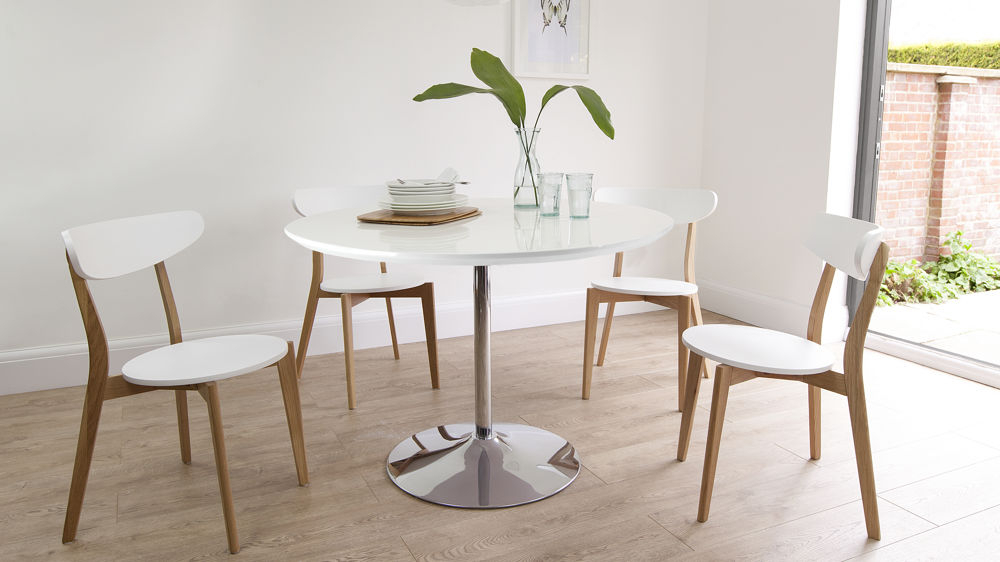 Round White Gloss Dining Table (View 3 of 20)