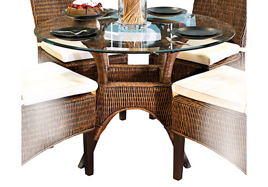 Round Wicker Dining Table – House Plans And More House Design With Well Known Wicker And Glass Dining Tables (View 6 of 20)