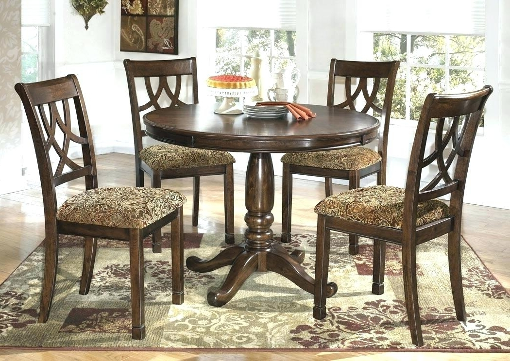 Round Wooden Dining Table For 4 Circle Dining Table Set Trend Round Intended For Recent Circular Dining Tables For 4 (Gallery 1 of 20)