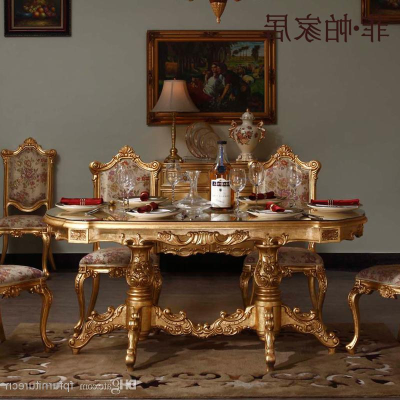 Royal Classic Furniture – Handwork Gilding Golden Foil Royalty Inside Trendy Royal Dining Tables (View 5 of 20)