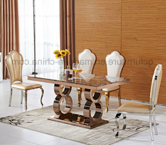 Royal Dining Tables For Most Popular China Mirror Rose Golden Royal Design Dining Table Sets – China (View 13 of 20)