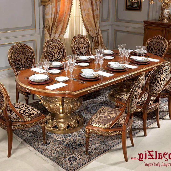 Royal Dining Tables With Regard To Trendy Royal Dining Table Cream Colour (View 17 of 20)