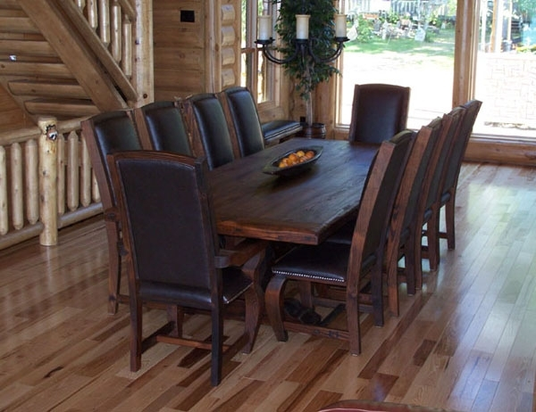 Rustic Lodge Log And Timber Furniture: Handcrafted From Green Intended For Current Green Cedar Dining Chairs (View 16 of 20)