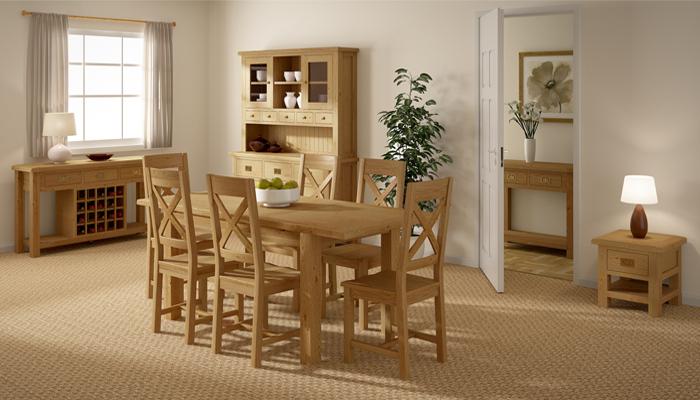 Rustic Oak Dining Furniture (View 9 of 20)
