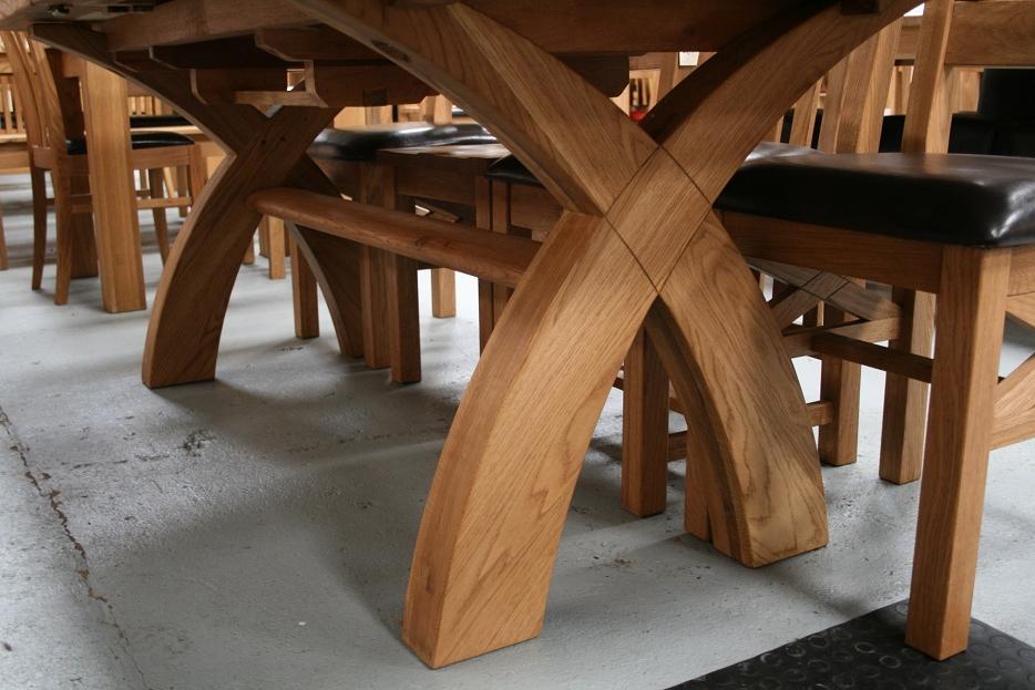 Rustic Oak Dining Table Furniture – Oak (View 13 of 20)