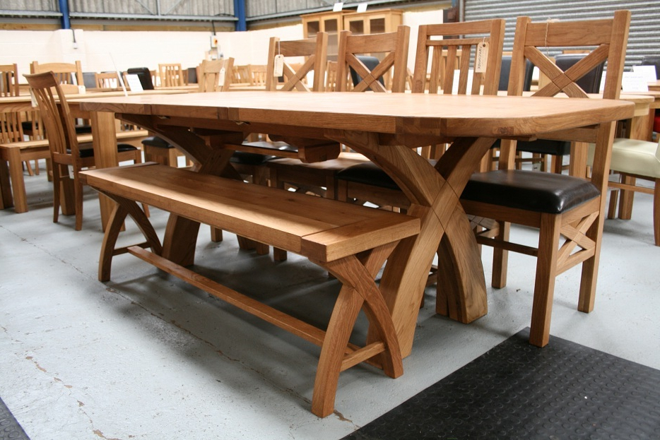 Rustic Oak Dining Table Furniture – Oak (View 17 of 20)