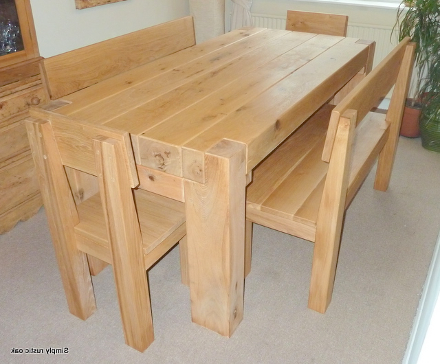 Rustic Oak Dining Tables With Recent Rustic Green Oak Beam Contemporary Dining Table – Simply Rustic Oak (Gallery 3 of 20)