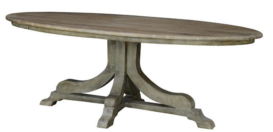 Rustic Oval Dining Table (View 16 of 20)