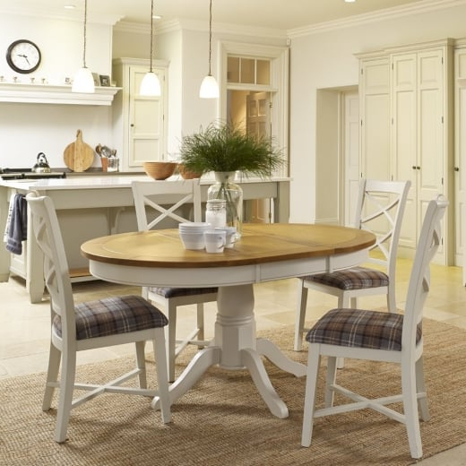 Rustic Painted Wood Tables & Chairs (View 9 of 20)