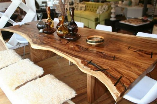 Rustic Tables For Famous Tree Dining Tables (View 8 of 20)