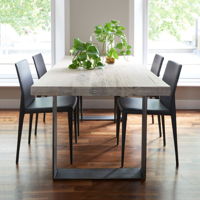 Rustik Dining Table From Stock With Trendy Iron And Wood Dining Tables (View 3 of 20)