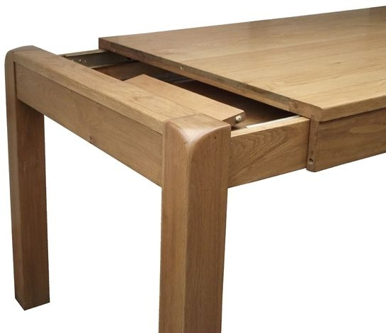 Saltash Oak 140Cm 180Cm Small Extending Dining Table With Well Known Small Oak Dining Tables (Gallery 10 of 20)