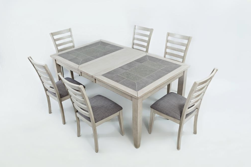 Sarasota Springs Ext Dining Table With Six Chairs Pertaining To Preferred Dining Tables For Six (View 14 of 20)