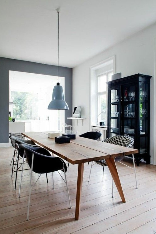 Scandinavian Dining Tables And Chairs Regarding Newest Table Clean Simple Timbre Dining Table (View 11 of 20)