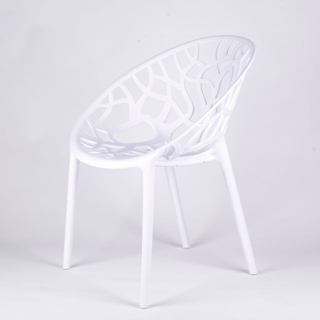 Scandinavian Modern Twigs Branches White Dining Chair Garden Cafe For Most Popular White Dining Chairs (View 16 of 20)