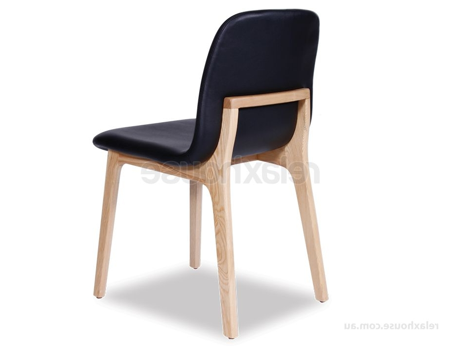 Scandinavian Upholstered Timber Dining Chair With Regard To Most Current Black Dining Chairs (View 10 of 20)