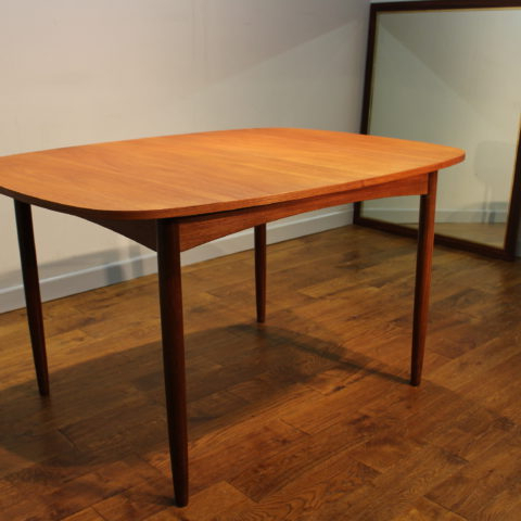 Scarce G Plan 1960s Teak Extending Dining Table With Removeable Legs With Widely Used Retro Extending Dining Tables (View 10 of 20)