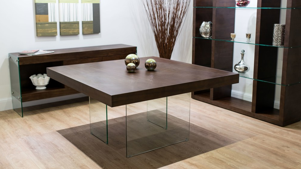 Seats 6 – 8 Throughout Dark Wood Square Dining Tables (Gallery 1 of 20)
