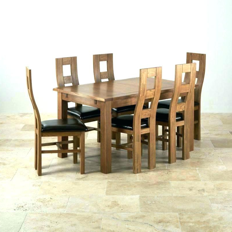 Second Hand Oak Dining Chairs With Well Known Oak Dining Room Table Chairs – Hiqua (View 13 of 20)