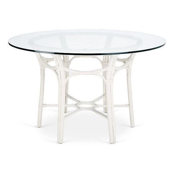 """Selamat Clementina 48"""" Rattan Round Dining Table White (280 Kwd Regarding Popular White Circular Dining Tables (Gallery 16 of 20)"""