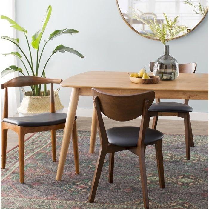 Septimus Side Chair #skandinavischwohnen #skandinavischerlook #skan Intended For Well Known Chandler 7 Piece Extension Dining Sets With Fabric Side Chairs (View 16 of 20)