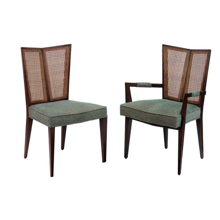 Set Of 6 Dining Chairs With Split Indian Cane Backsmichael Regarding Newest Indian Dining Chairs (View 16 of 20)
