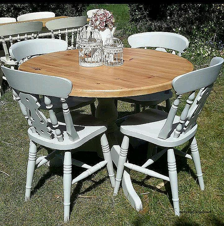 Shabby Chic Cream Dining Table And Chairs Fresh Solid Pine Shabby Throughout 2018 Shabby Chic Cream Dining Tables And Chairs (View 18 of 20)