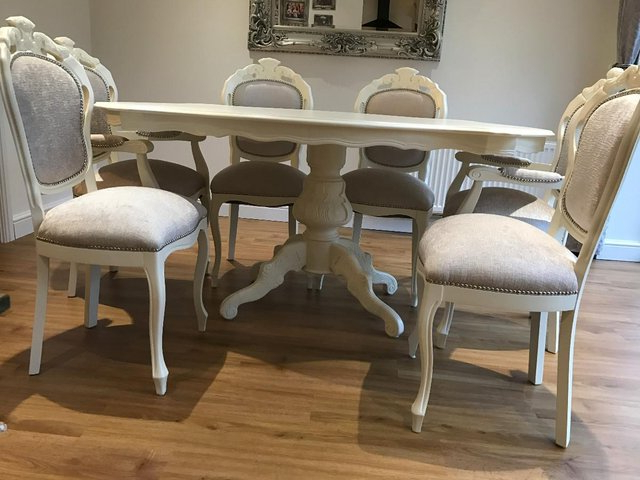Shabby Chic Cream Dining Tables And Chairs In Preferred Shabby Chic Table And Chairs – Local Classifieds, Buy And Sell In (View 9 of 20)