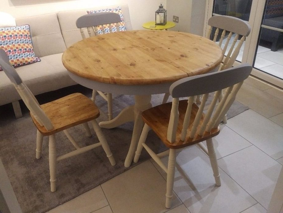 Shabby Chic Cream Dining Tables And Chairs Intended For Most Recently Released Shabby Chic Dining Table Tables Ideas Marvelous Decoration Round (View 15 of 20)