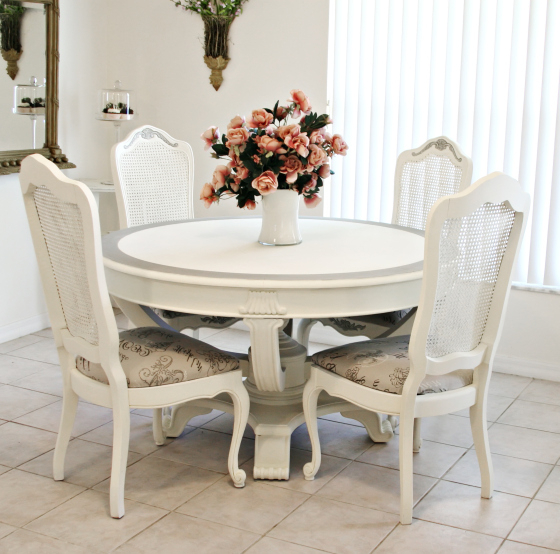 Featured Photo of Shabby Chic Cream Dining Tables And Chairs