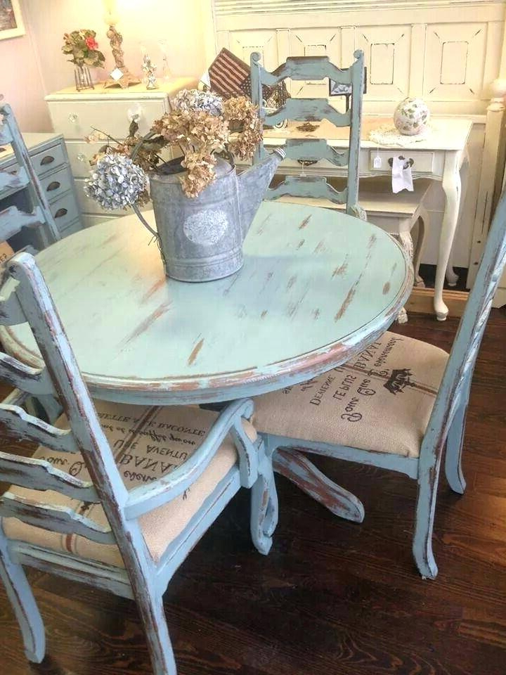 Shabby Chic Dining Chairs For Sale Shabby Chic Dining Table For Sale In Well Known Shabby Chic Dining Chairs (View 15 of 20)