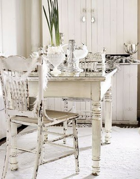 Shabby Chic Dining Chairs Inside Current Interior. Shabby Chic Dining Set: 39 Beautiful Shabby Chic Dining (Gallery 14 of 20)