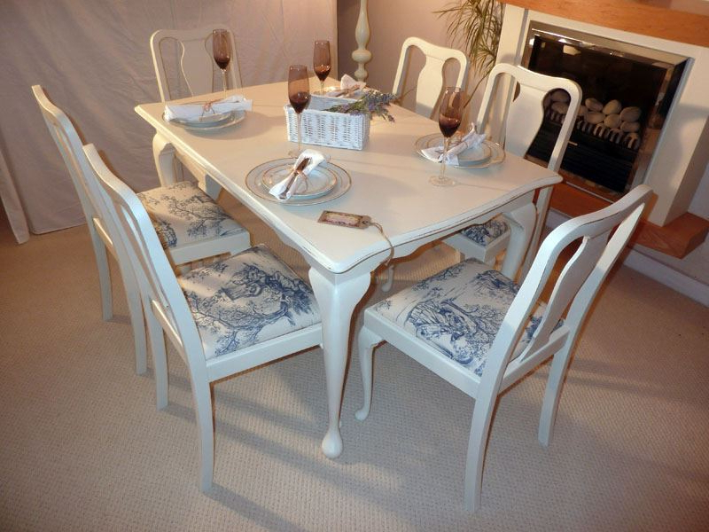 Shabby Chic Extendable Dining Tables With Trendy Shabby Chic Extendable Dining Table With 6 Chairs Painted Vintage (View 11 of 20)