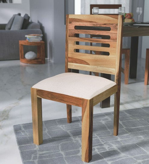 Sheesham Dining Chairs Pertaining To Most Up To Date Buy Oregon Solid Wood Dining Chair In Natural Sheesham Finish (View 11 of 20)
