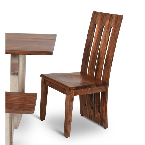 Sheesham Dining Chairs Throughout Widely Used Shop Rania Sheesham Wood Dining Chairs (set Of 2)greyson Living (View 3 of 20)