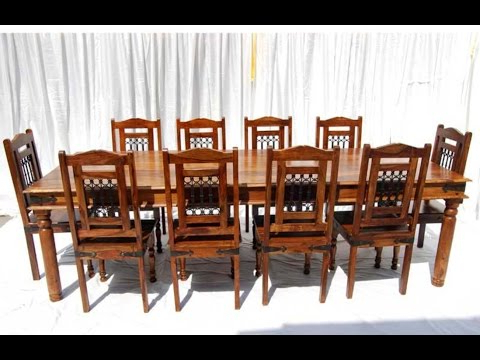 Sheesham Dining Tables 8 Chairs Regarding Popular Victoria Jali 8 Seater Dining Table (View 14 of 20)