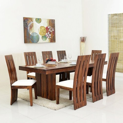 Sheesham Dining Tables 8 Chairs With Fashionable Style Well's Del Monte Sheesham Wood 8 Seater Dining Table (View 16 of 20)
